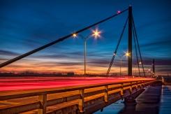 Circulation matinale sur le pont Papineau