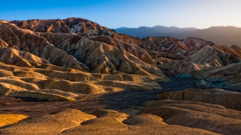Dry Riverbed at Zabriskie Point, Death Valley, Nevada
