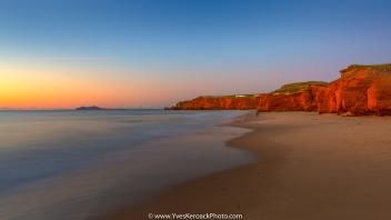 Lever de soleil à la plage de la dune du sud