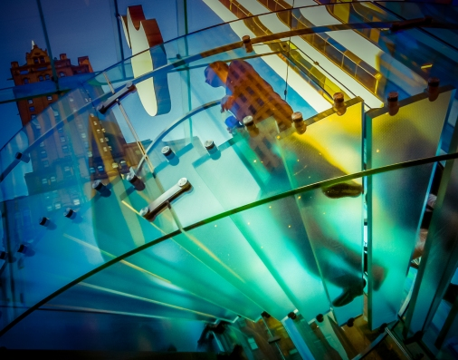 Escalier en spirale chez Apple, New York