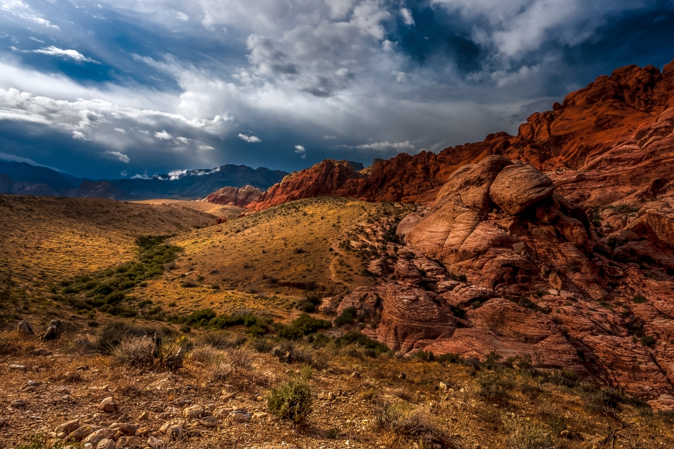 Red Rocks under the clouds