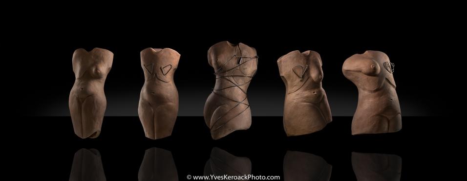 Présentation virtuelle de sculptures sur le thème du cancer du sein