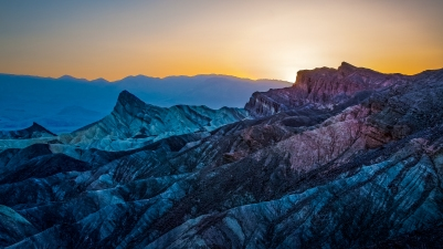 Sunset at Zabriskie Point, Nevada