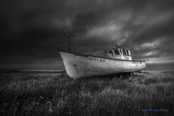 Épave du bateau de pêche Purple Rain à Old Harry, Iles-de-la-Madeleine, Québec