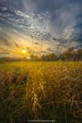 Coucher de soleil sur la petite digue à l'Île-St-Bernard