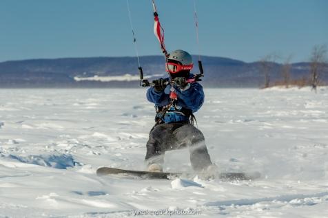 Anse-à-L'Orme, kite surf sur le lac des Deux-Montagnes