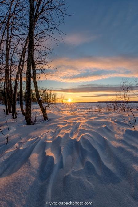 Bois de l'Île-Bizard, coucher de soleil sur le lac des Deux-Montagnes