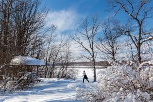Cap St-Jacques, ski de fond le long de la Rivière-des-Prairies