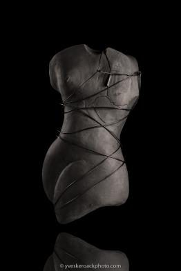 Cancer du sein - Sculpture 3 N&B
