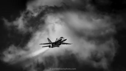 Aero Gatineau-Ottawa 2021, CF-18 Hornet (N&B)